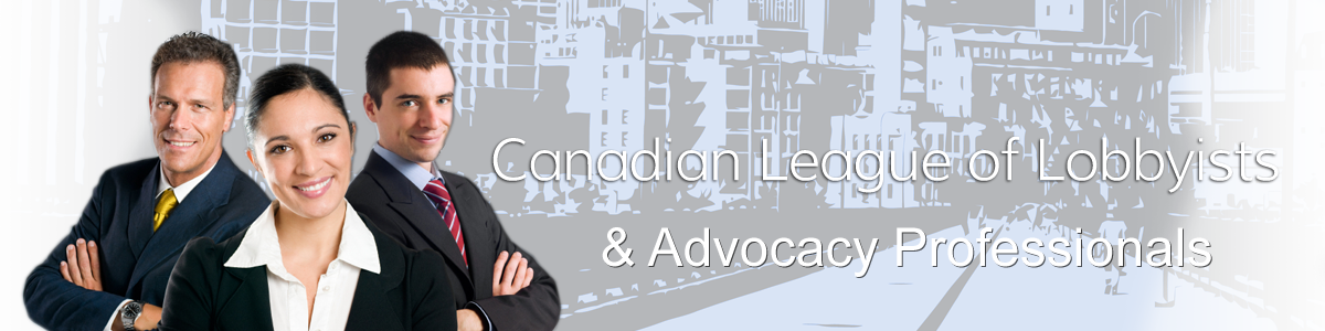 Canadian League of Lobbyists Banner